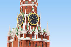 Spasskaya Tower in Moscow Stock Photos