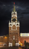 The Spasskaya Tower in Moscow Kremlin Stock Images