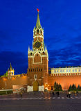 Spasskaya Tower in the Moscow Kremlin, Moscow Royalty Free Stock Photography