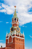Spasskaya tower in moscow kremlin Royalty Free Stock Image
