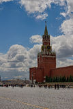 The Spasskaya Tower. Moscow Kremlin, Red Square, Russia. Royalty Free Stock Images