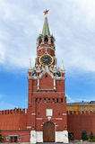 Spasskaya Tower of Moscow Kremlin, Russia. Stock Images