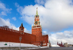 Spasskaya Tower of the Moscow Kremlin Royalty Free Stock Photo