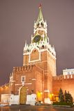 Spasskaya Tower of the Moscow Kremlin. Russia Stock Photos