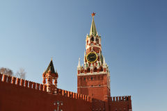 Spasskaya  tower of Moscow Kremlin, Russia Royalty Free Stock Images
