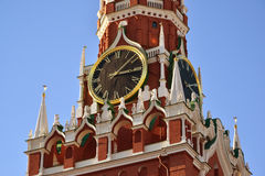 Spasskaya tower of Moscow Kremlin, Russia Stock Image