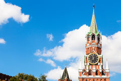 Spasskaya Tower of Moscow Kremlin in summer day Stock Image