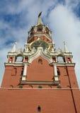 Spasskaya Tower in Moscow Kremlin. View of Spasskaya Tower on red square in Moscow Kremlin, Russian royalty free stock photo