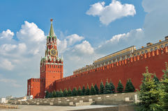The Spasskaya tower in Moscow Royalty Free Stock Photos