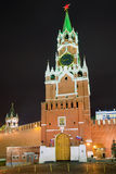 The Spasskaya Tower, Moscow, Russia. The Moscow Kremlin chiming clock of the Spasskaya Tower, Russia royalty free stock image