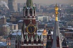 The Spasskaya Tower. The most beautiful part of Kremlin Royalty Free Stock Photo