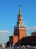 Spasskaya tower in Red Square. Spasskaya Tower  of the Kremlin  in Red Square in Moscow. July, 2015 Royalty Free Stock Photography