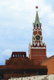 Spasskaya Tower. Red Square. Moscow Kremlin. Russia Stock Photos