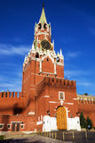 Spasskaya tower on Red Square, Moscow, Russia Royalty Free Stock Image