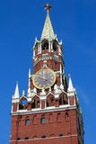 Spasskaya tower on Red Square in Moscow, Russia Royalty Free Stock Images
