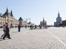 Spasskaya tower on Red Square opened after restoration royalty free stock photography