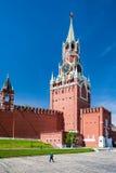 Spasskaya-Turm vom Kreml in Moskau Stockbild