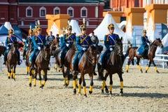 Spasskaya wierza międzynarodowy militarny festiwal muzyki Fotografia Royalty Free