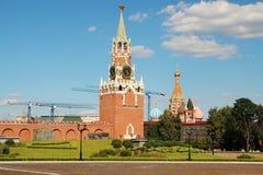 Spasskaya wierza, Moskwa zdjęcie stock