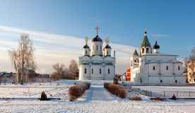 Spasskiy monastery at Murom in winter Stock Photos