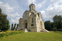 Spasskiy Temple of Andronikov Monastery Royalty Free Stock Image