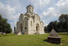Spasskiy Temple in fisheye view stock images
