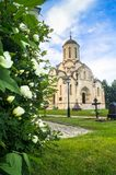 Spassky Cathedral of the Vernicle Image of the Saviour in the Andronikov monastery, Moscow. Royalty Free Stock Image