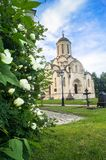 Spassky Cathedral of the Vernicle Image of the Saviour in the Andronikov monastery, Moscow. Royalty Free Stock Photography