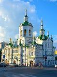 Spassky Orthodoxe Kerk in Tyumen stock afbeeldingen