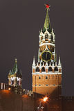 A Spassky tower of Kremlin, Moscow, Russia Royalty Free Stock Images