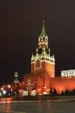Spassky Tower of Moscow Kremlin. Spaska tower of Moscow Kremlin at the night sky Royalty Free Stock Photo