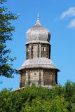 Spassky tower of Tomsk wooden Kremlin, Russia Royalty Free Stock Photos
