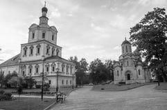 Spasskykathedraal van het Vernicle-Beeld van de Verlosser en de Kerk van Aartsengel Michael, Andronikov-klooster, Moskou Stock Fotografie