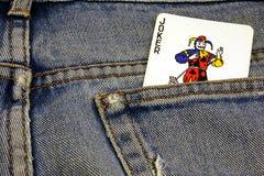 Spassvogel-Jeans Stockbilder