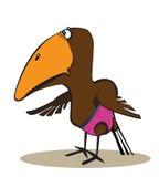 Spastic Bird Cartoon Illustration Royalty Free Stock Photography