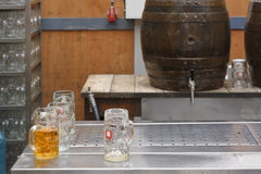 Spaten Beer and Keg Royalty Free Stock Photography