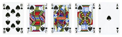 Spaten entsprechen Spielkarten lizenzfreie stockfotografie