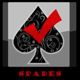 Spaten-Karten-Symbol Stockfotos