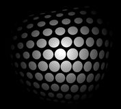 Spatial dots, vector. Abstract background with dots in the dark Stock Image