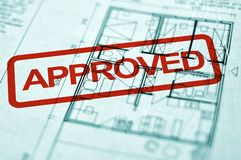 Spatial planning. Close up of spatial planning blueprint, architecture background Stock Photography