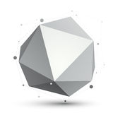 Spatial technological shape, vector polygonal single color eps8 Stock Photography