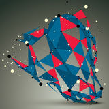 Spatial vector colorful digital object, 3d technology figure Stock Photo