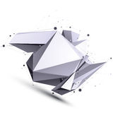 Spatial vector contrast digital object, cybernetic dimensional t Royalty Free Stock Image