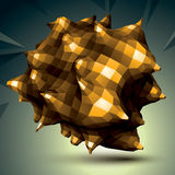 Spatial vector golden digital object , 3d technology fig Royalty Free Stock Photography