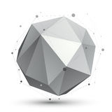 Spatial vector monochrome digital eps8 object, dimensional techn Royalty Free Stock Images