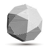 Spatial vector monochrome object , 3d technology figure Stock Images