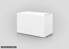 Spatie die witte kartondoos verpakken stock illustratie