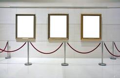 Spatie frame canvas in een tentoonstelling Stock Afbeeldingen