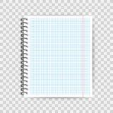 Spatie gevoerd document malplaatje, één pagina, het Oefenboek van het Notitieboekjeeind Vector illustratie vector illustratie
