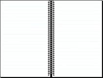 Spatie gevoerde notitieboekjeachtergrond vector illustratie